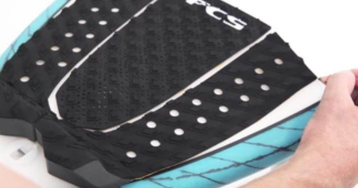 How to put on a surfboard tail pad